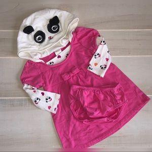 ⭐️Gymboree Panda Academy Outfit Set 12-18 mos